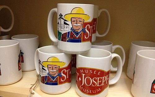 Musée St. Joseph Museum Farmer Mugs $13.50