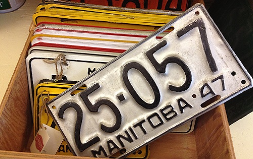 Vintage Licence Plates $7.00 - Get a plate for your vintage car or to commemorate your birth year.